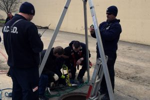 Confined Space Rescue class in 2016